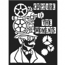 Stamperia - Antonis Tzanidakis - Mechanical Fantasy - Thick Stencil -15 x 20cm - Capture the Moment